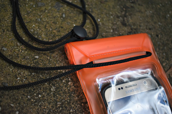 "The lanyard is durably designed to weave through the back of the bag, so the bag (and your phone) doesn't snap off like the other ""popular"" style."