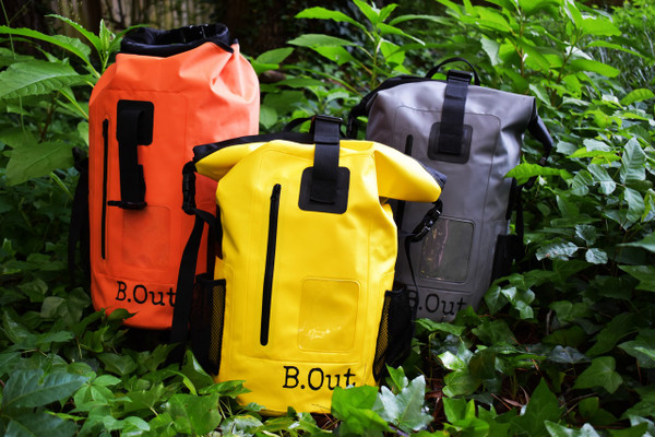100% Water Proof Shoulder Backpack Floats safely if dropped in water Suitable for quick submersion Water Proof, Sand Proof, Dust Proof, Dirt Proof High frequency welded seams Made of 500D  PVC tarpaulin Durable, wipe clean and easy to store away Multi-purpose storage application Heavy duty and durable materials for rough usage    It is 100% waterproof, will float if dropped in the water and handle a quick submersion.  must be sealed correctly and not overfilled.  PERFECT DRY BACKPACK hiking, camping, survival bag, rafting, beach, pool. great for keeping items safe and dry like keys, wallets, cell phone, camera, ipad, etc...  It will keep your clothes dry and floats if dropped in the water. Made from 500D polyester -coated tarpaulin.  Easily sealed with the Fold Seal System.  High visibility colors allows you to spot it from a distance.