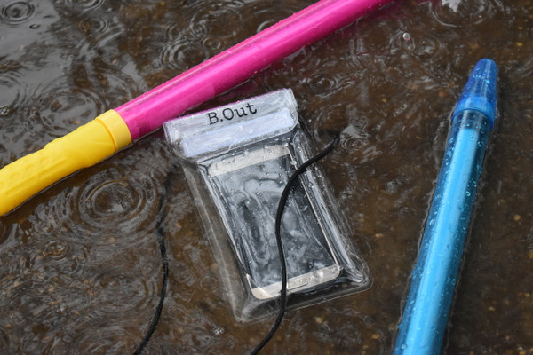 "Waterproof. Sand Proof. Dust Proof. Dirt Proof.  Fully submersible. Great for beach, pool, water parks, camping, and sporting venues that require clear bags.   Measures 4.25 in. x 8.27 in. and/or 10.8 cm x 21 cm, fitting most phones.  With triple fold seal technology, you can't get water in this bag -- it does not leak!    Waterproof phone bag is designed not to hinder touch screen use even underwater.  Transparent cover all around so as not to block the camera use.  The lanyard is durably designed to weave through the back of the cover, so the bag (and your phone) doesn't snap off like the other ""popular"" style."