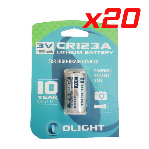 CR123A Torch or Arlo Camera Batteries 50x Pack
