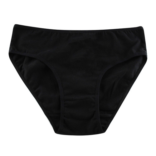 Women's PK1 Cotton Mid Brief - Black