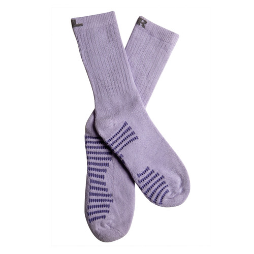 Benefeet Women's PK1 Lavender scented Aromatherapy cotton crew socks with massaging soles and Aloe Vera - Purple