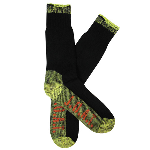 Jack Of All Trades Men's PK1 Comfort Cotton socks for outdoor, work and play - Black