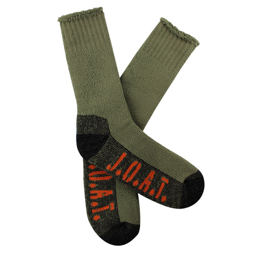 Jack Of All Trades Men's PK1 Sustainable Bamboo socks for outdoor, work and play - Khaki