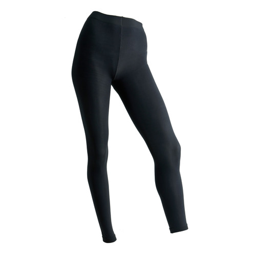 Seamless Full Length Footless Tights - Black