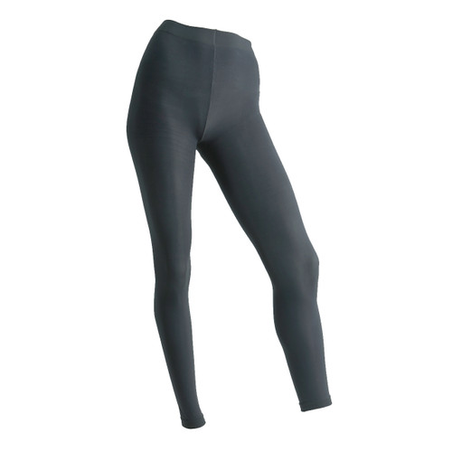 Seamless Full Length Footless Tights - Charcoal