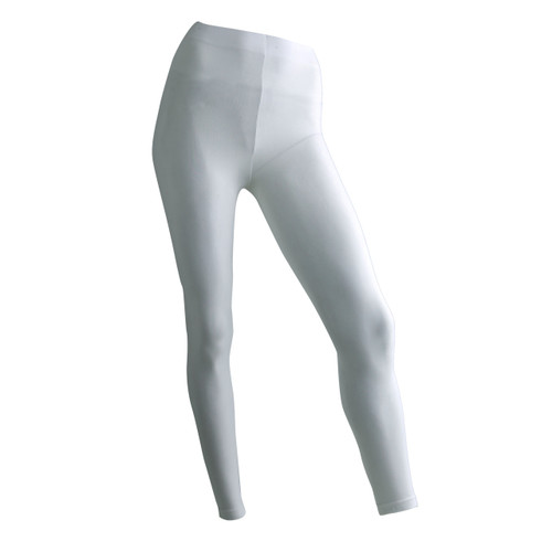 Seamless Full Length Footless Tights - White