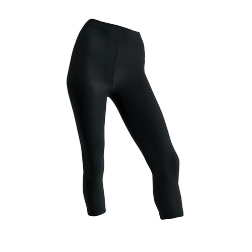 Seamless 3/4 Capri Length Tights - Black