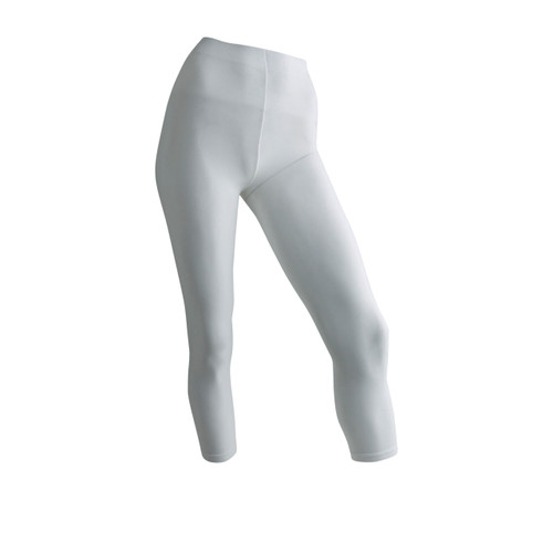 Seamless 3/4 Capri Length Tights - White