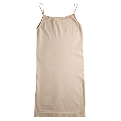 Seamless Shoe String Singlet Slip Dress - Skin