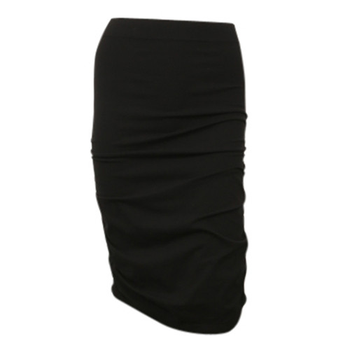 Seamless Ruched Skirt - Black