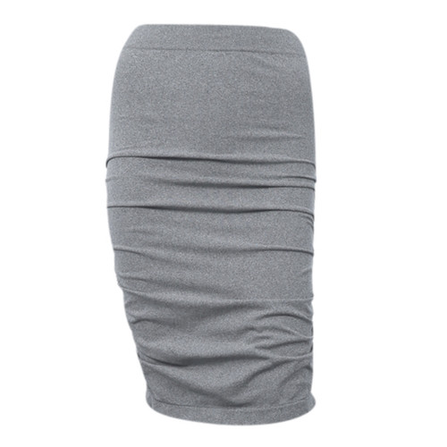 Seamless Ruched Skirt - Grey Marle