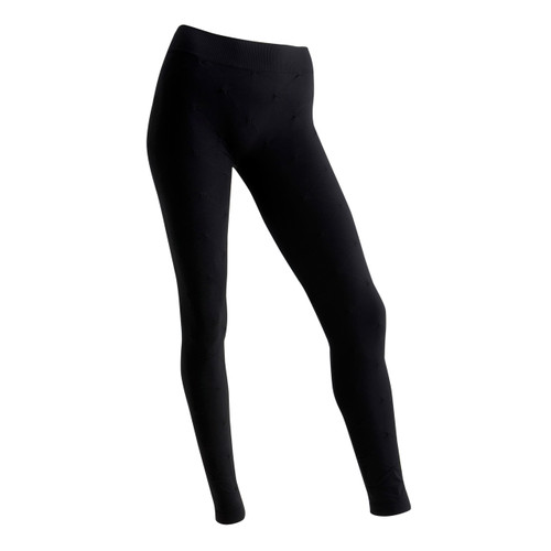 Sock Café Body PK1 Seamless Leggings with All Over Tuck Stitch Texture - Black