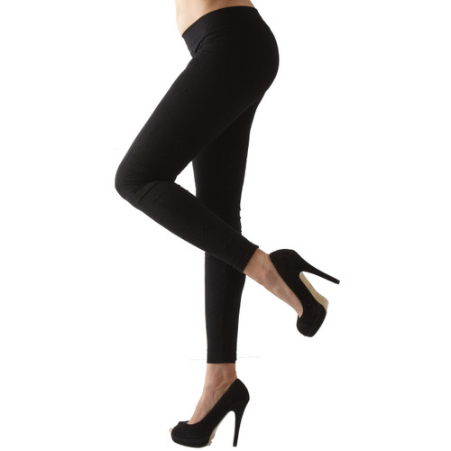 Seamless Leggings with Tuck Stitch Texture