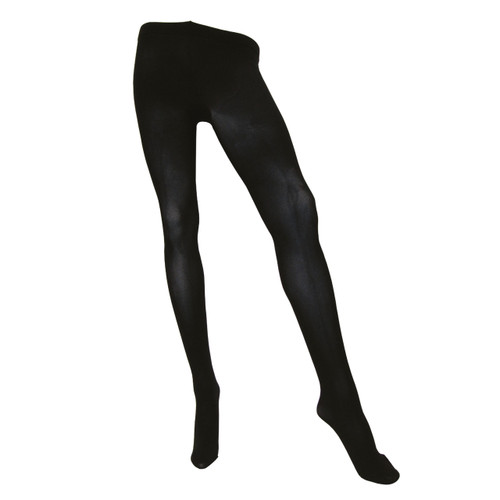 Sock Café Womens PK1 3 Dimensional 100 Denier Opaque Tights - Black