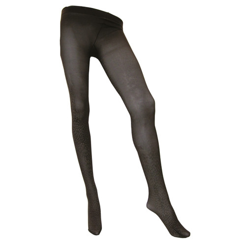 Sock Café Womens PK1 Leopardo 60 Denier Patterned Tights - Chocolate