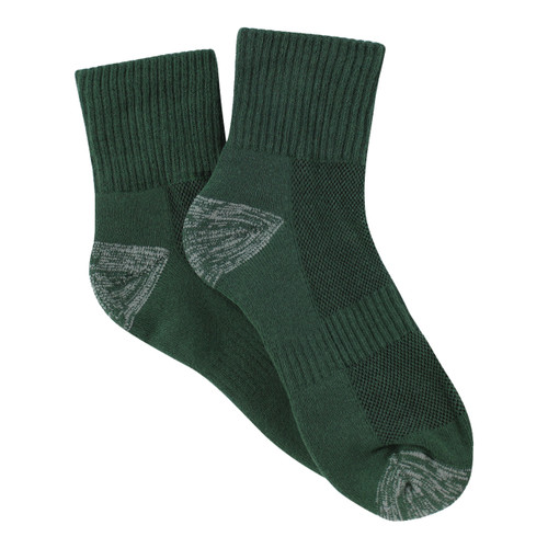 PK3 Tough Quarter Crew Socks - Bottle
