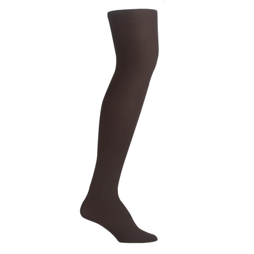 Girls PK2 70D Nylon Opaque Tights - Chocolate