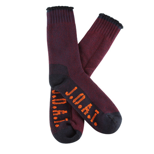 PK1 Bamboo Outdoor Socks- Burgundy Twisted