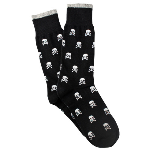 Sock Cafe Men's PK1 Cotton Contemporary Crew - Skull N Bones