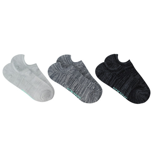 Jack of all trades® Pk3 Men's No-show Active socks, with arch support - Spacedye/Mint