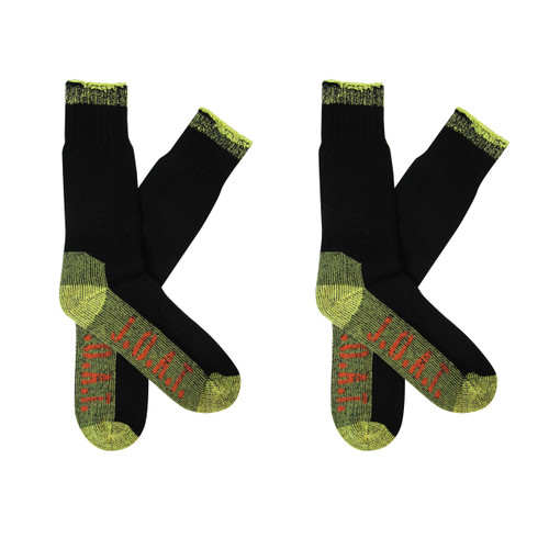 Men's PK2 Cotton Outdoor Socks - Black