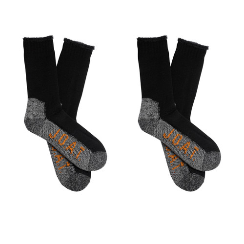 Men's PK2 Wool Outdoor Socks- Black