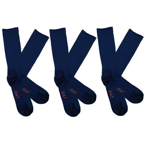 Men's PK3 Thick Bamboo Outdoor Socks- Airforce