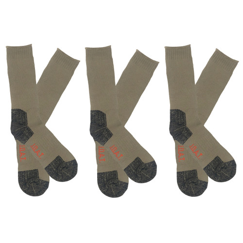Men's PK3 Thick Bamboo Outdoor Socks- Bone