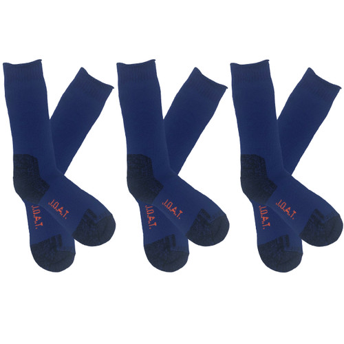 Men's PK3 Thick Bamboo Outdoor Socks- Royal Blue