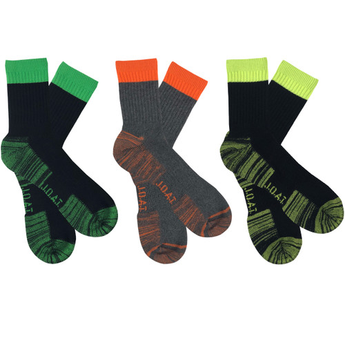 Men's PK3 Quarter Crew WORK IT Socks