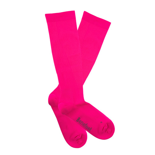 PK1 Benefeet Airsafe Therapeutic Compression Socks with Silverplus - Fluro Pink