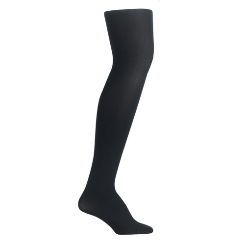 Bearfoot Girl's PK1 70D Nylon Opaque Tights with Cotton Gusset - Black