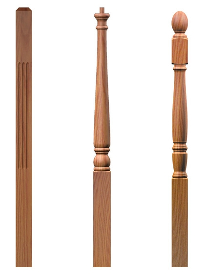 3 inch Turned Stair Newel Posts