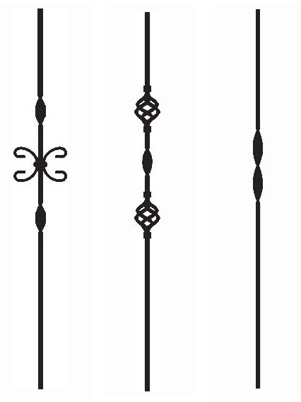 Ribbon Iron Balusters