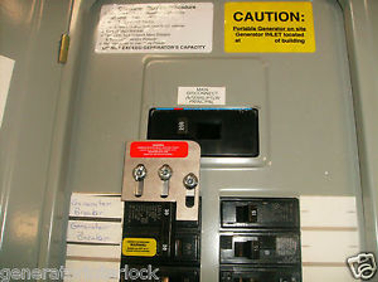 200amp Main Circuit Breaker With 30amp Generator Circuit Breaker At