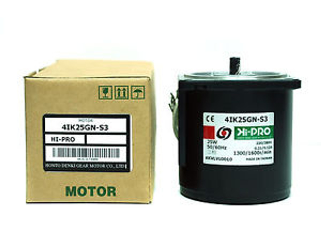 1 AC Induction Gear Motor AC380V 5//60Hz 3φ 25W 4IK25GN-S3 1300//1600rpm 80x80x85m