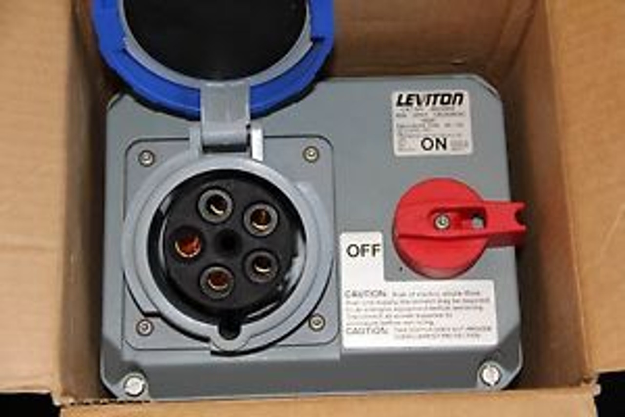 NEW HUBBELL FLANGED INLET WATERTIGHT PIN AND SLEEVE 520B5W 20A AMP 4 POLE 5 WIRE