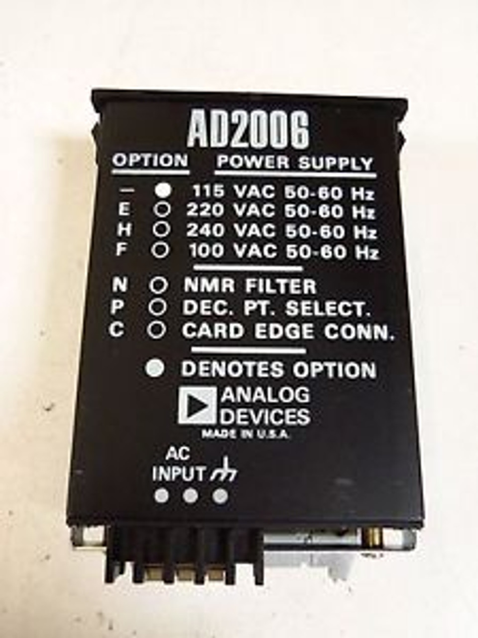 ANALOG DEVICES 3B39 ISOLATED OUTPUT MODULE NEW SEALED CONDITION IN PACKAGE
