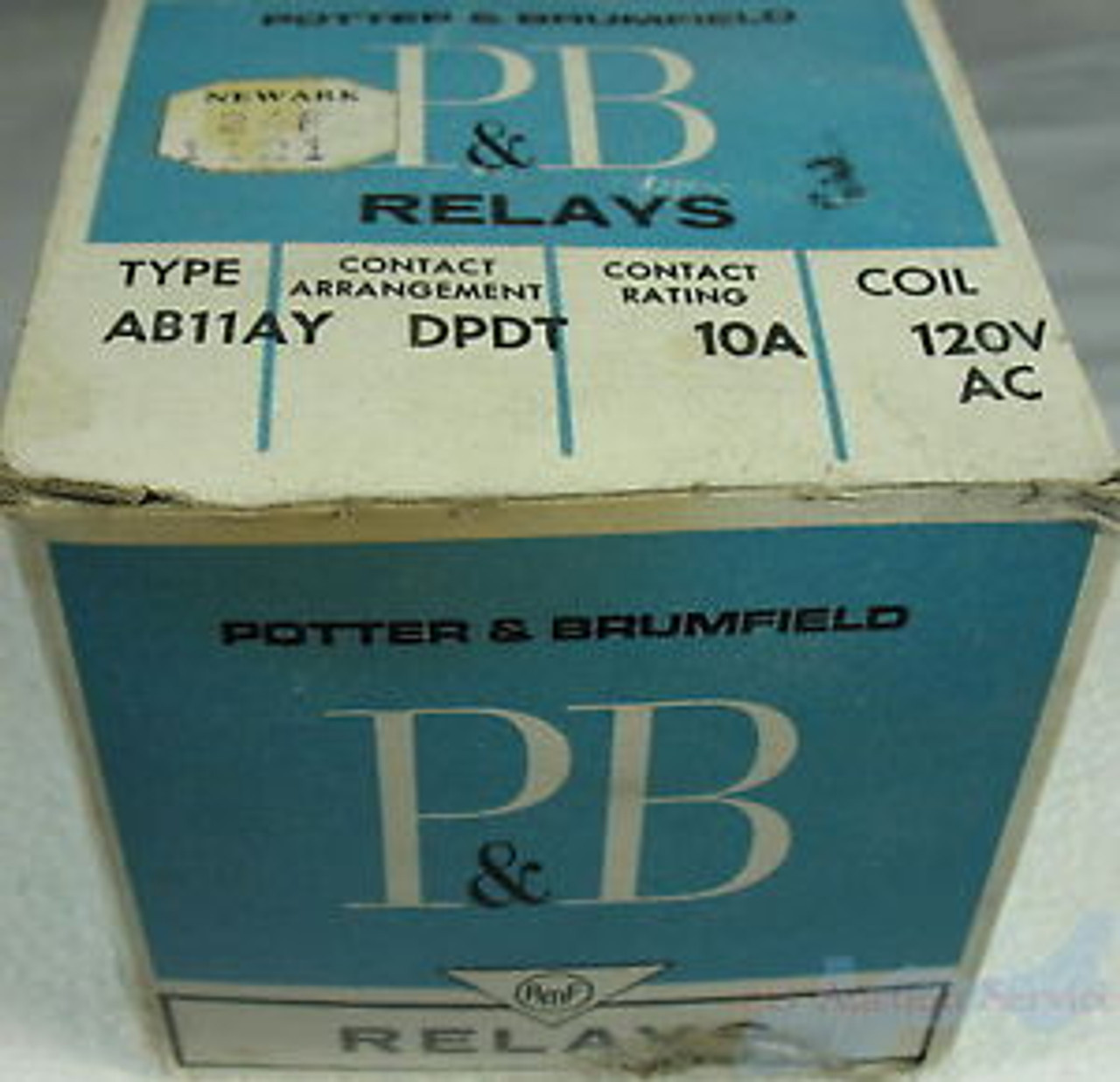 AB11AY DPDT 10A 120VAC Coil Potter Brumfield Relay Contactor