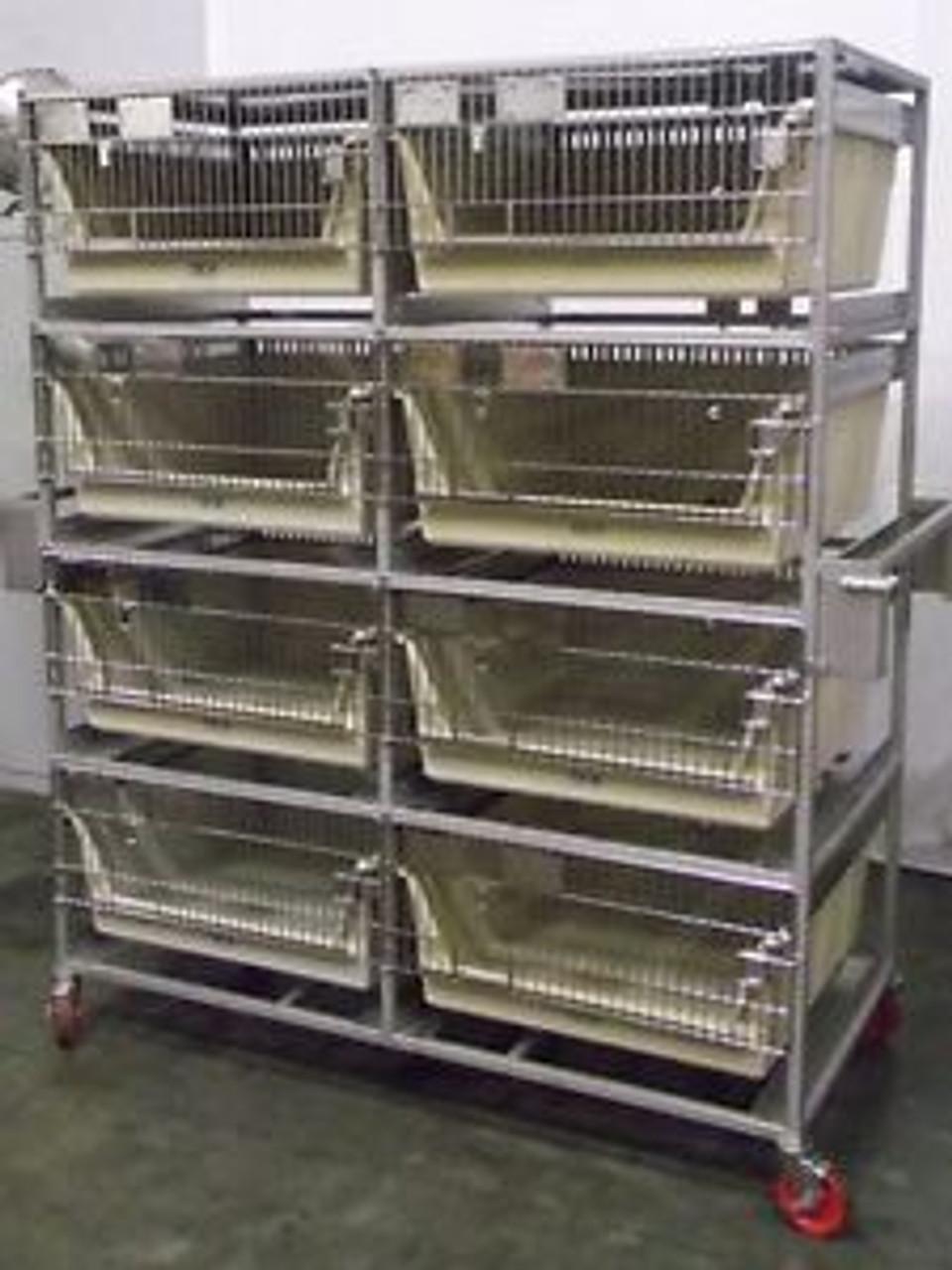 S124765 Allentown Caging Equipment 8 Rack Lab Veterinary Rabbit/Guinea Pig  Cage