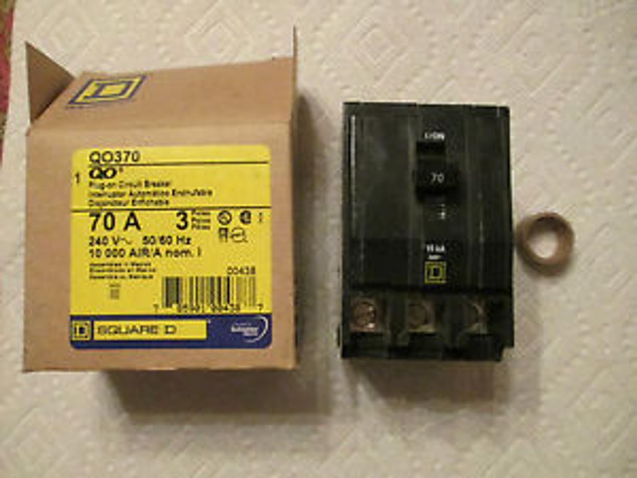 Square D QO370 3 Pole 70 Amp Plug-On Circuit Breaker Older Style