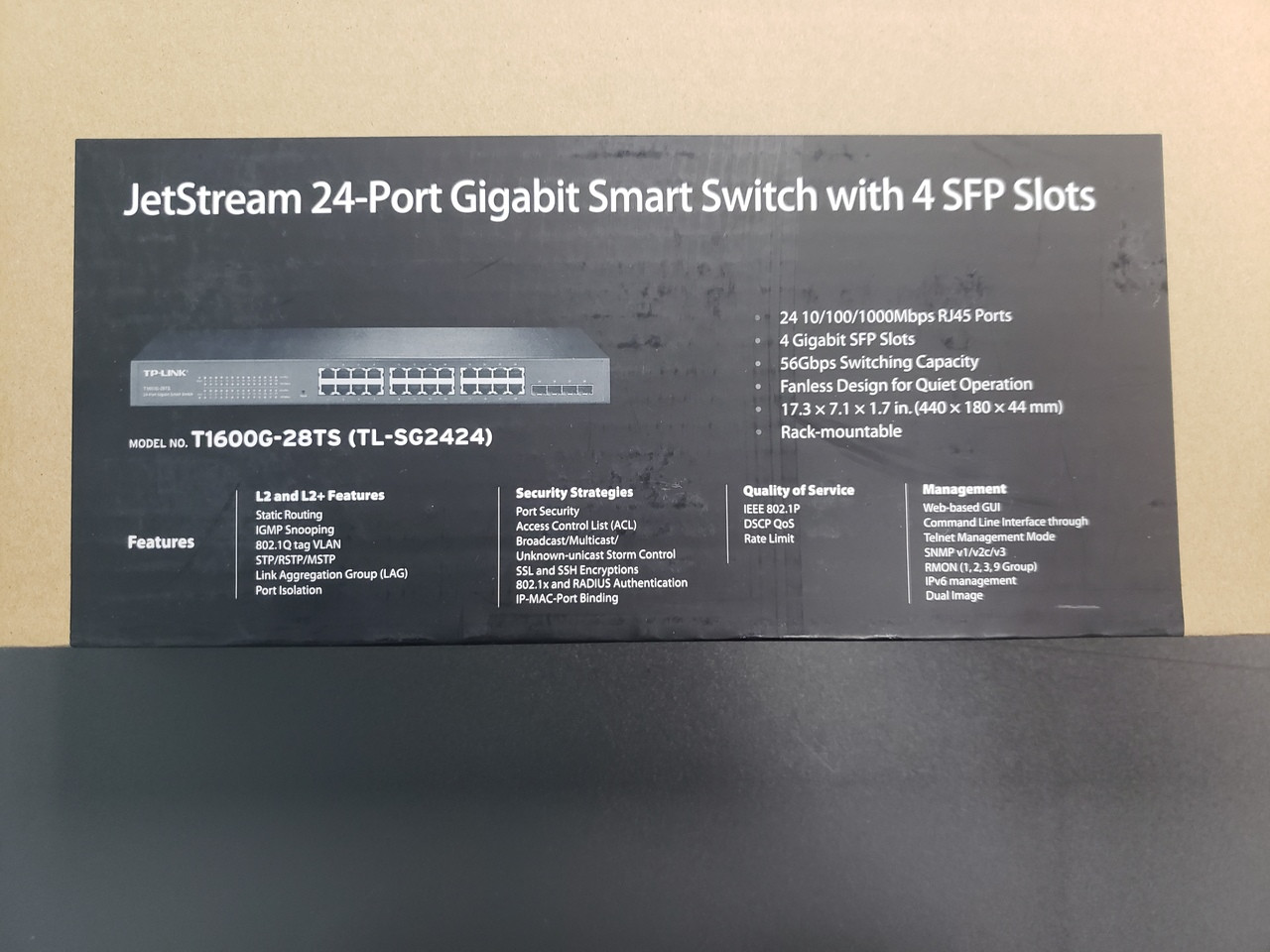Brand New TP-LINK TL-SG2424 24-Port Gigabit Smart Switch In Original Box