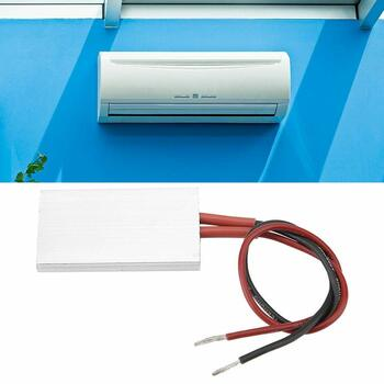 PTC Heating Element - Thermostat 50 28.5 mm PTC Aluminum Electric Heater PTC Aluminum housing Heating Element Plate Thermostatic Heater (12V/70℃)