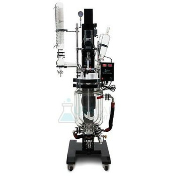 10L Electric Lift Double Jacketed Glass Reactor