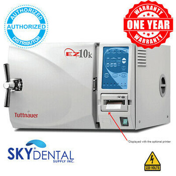 Tuttnauer Ez10K / Ez10P Automatic Kwiklave Autoclave Steam Sterilizer 220V Power