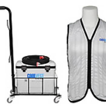 Deluxe Personal Cooling System, M Vest, 18L Cooler