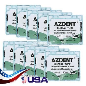 100 Boxes Dental Ortho Buccal Tube Bondable 1St Molar Non-Convertible Roth 022