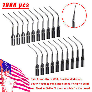 1000* Dental Ultrasonic Piezo Scaler Tips Perio Tip P3 For Ems Woodpecker Skysea