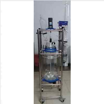 100L Jacketed Glass Chemical Reactor Vessel Explosion Proof Customizable Bi